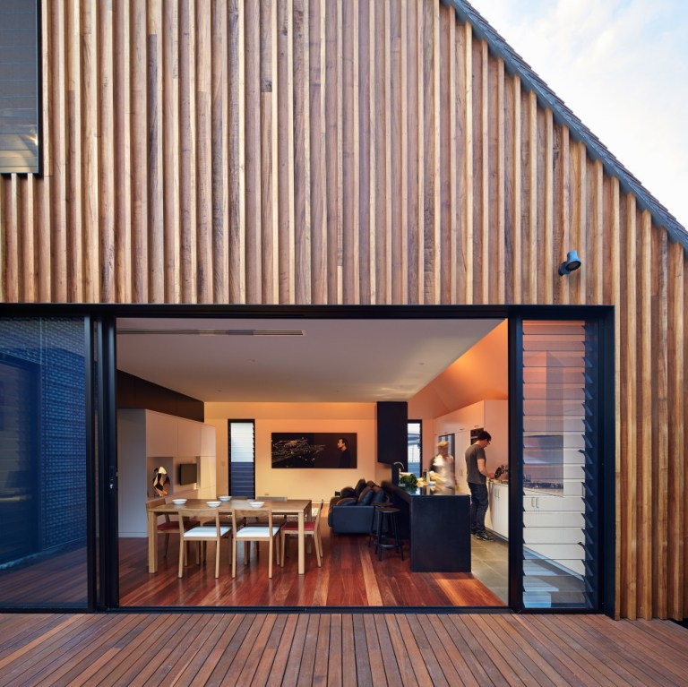Profile, view outside in, Camino House, designed by Bosske. Photo: Peter Bennetts