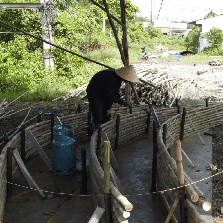Bamboo being treated in Vietnam. Image: supplied