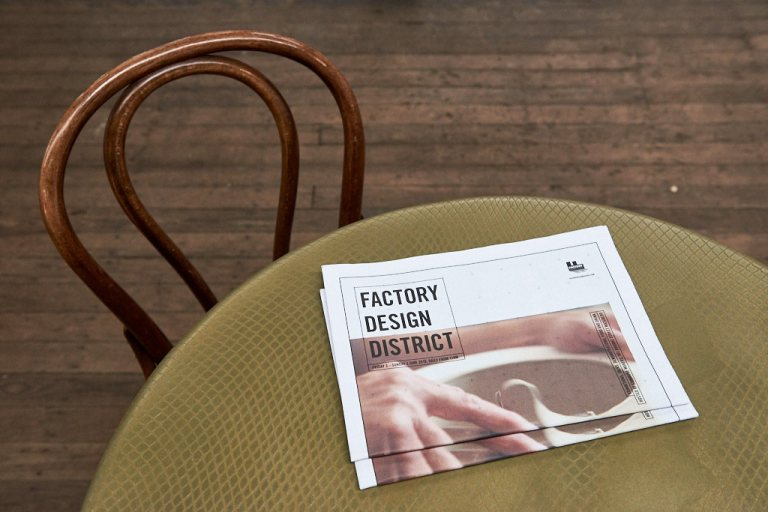 Factory Design District tabloid, edited by Penny Craswell with graphic design by Danny Wehbe. Photo: Fiona Susanto