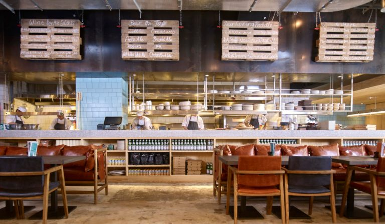 Open kitchen at Little Creatures Hong Kong by Charlie & Rose. Image: supplied