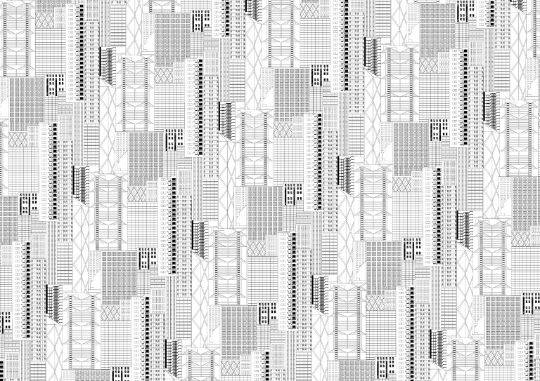 Hong Kong pattern by Australian designer Penelope Forlano. Read more on The Design Writer blog