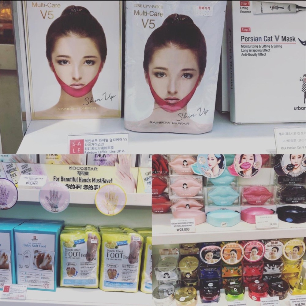 cosmetics in Myeongdong