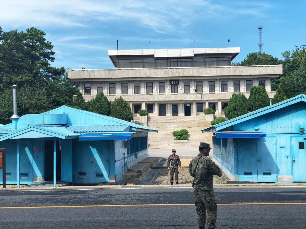 South Korean Soldier on duty in Panmunjeom