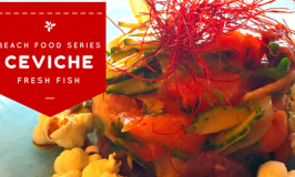Fast and healthy beach food fish ceviche