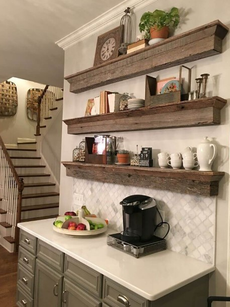 kitchen corner cabinet ideas black table and chairs 50 diy coffee bar inside the home for enthusiast