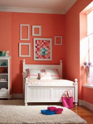 paint bedroom wall colors bright rooms combination colour bedrooms schemes walls orange designs decor decorating apartment patterns indian bed perfect