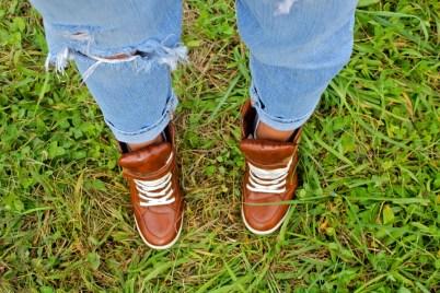 trendy wedge sneakers