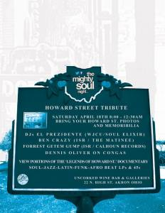 Mighty Soul Night Howard Street Tribute flyer2