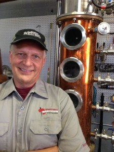 Ron Petrosky, who moved over from his work with Grape and Granary to help John launch the disillery. (Photo courtesy of Renaissance Artisan Distillers)