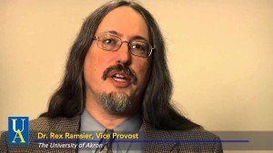 Screenshot of Dr. Rex Ramsier from the University of Akron website.