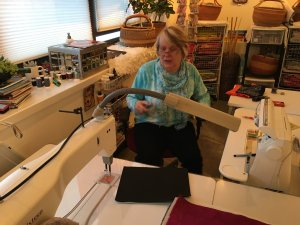 Connie Bloom in her studio (PHOTO: Megan Combs/The Devil Strip)