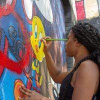 Artist gets a new job from the LeBron James Family Foundation after mural was vandalized