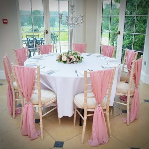 chair cover hire exeter shower with swivel seat sash the devon wedding company deluxe designs