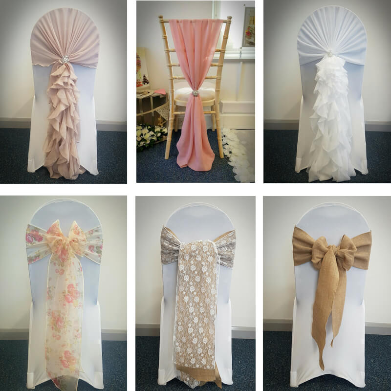 wedding chair covers devon lounge lizard cover with deluxe sash the company and hire