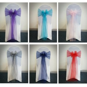 chair cover hire exeter covers for dining table sash the devon wedding company with organza