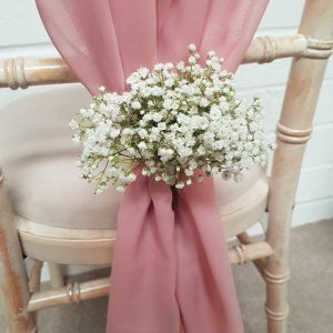 chair cover hire exeter wing chairs on sale sash the devon wedding company fresh flower embellishments
