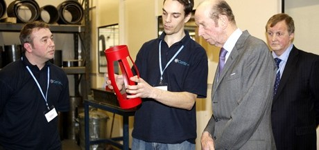 HRH The Duke of Kent at Centek, Newton Abbot
