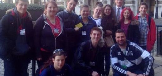 Nick and a delegation of young Devonians lobbying against the proposed changes in Westminster