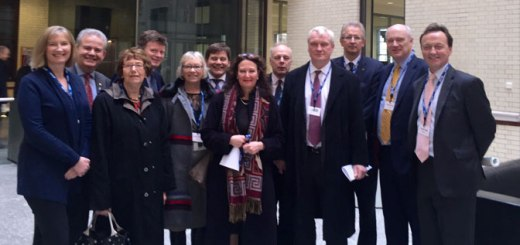 Nick Harvey MP and cross-party MPs from the Rural Fair Share Campaign at the Treasury to meet Minister Priti Patel