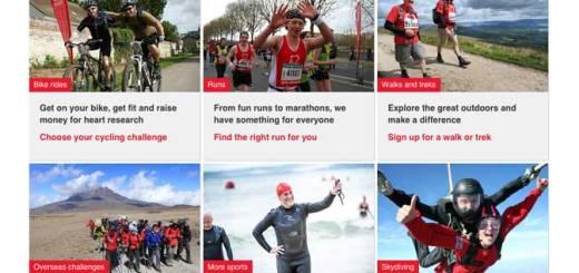 British Heart Foundation sports