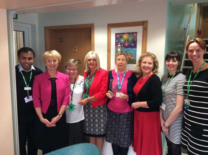 Macmillan Centre Manager Sue Smith and team.
