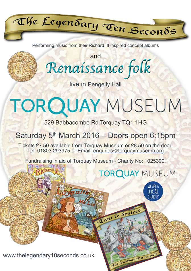 richard iii gig at Torquay museum