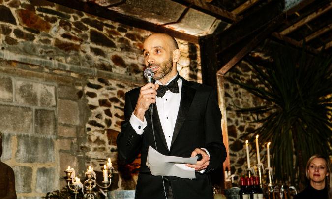 Stuart Robb of Marketing Source speaking to staff