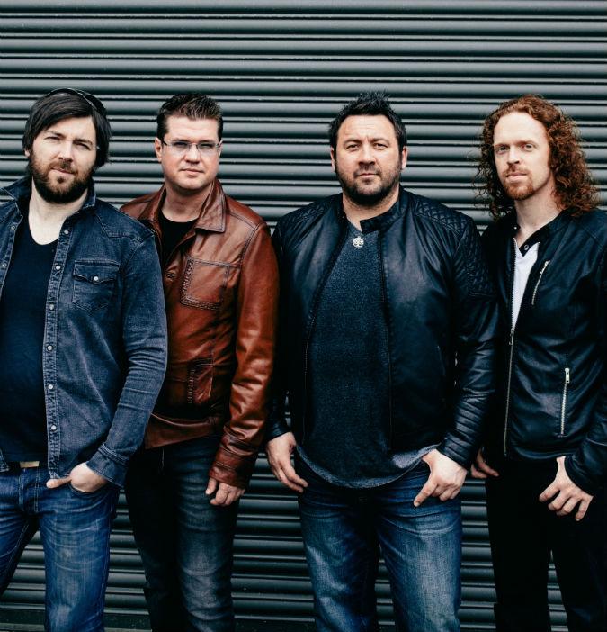 King King (L-R): Wayne Proctor (drums), Lindsay Coulson (bass), Alan Nimmo (guitar, vocals), Bob Fridzema (keyboards). Photo: Blackham Images