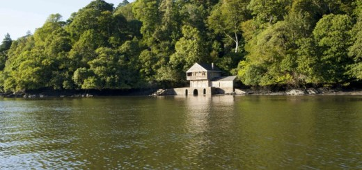 Boathouse at Greenway where dolphins were spotted. Courtesy of National Trust/Marianne Majerus
