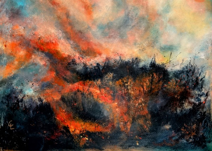 Cherry Lyons, Swaling Moorland Heath acrylic on paper 57 x 45cm.jpg