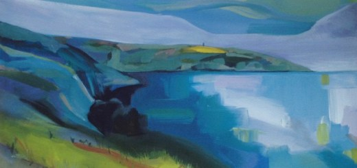 Helena Clews, Distant Daymark, oil on canvas, 91x61cm