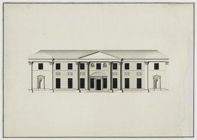 Killerton Mansion design by architect James Wyatt - RIBA