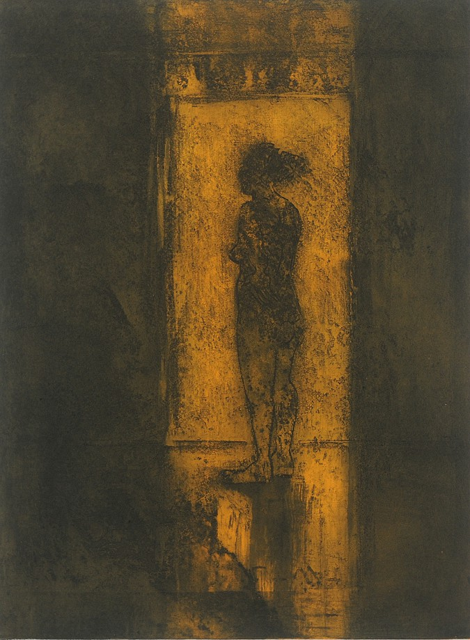 Susanne Lowry-Smith, Figure in Light No2, Etching with Aquatint