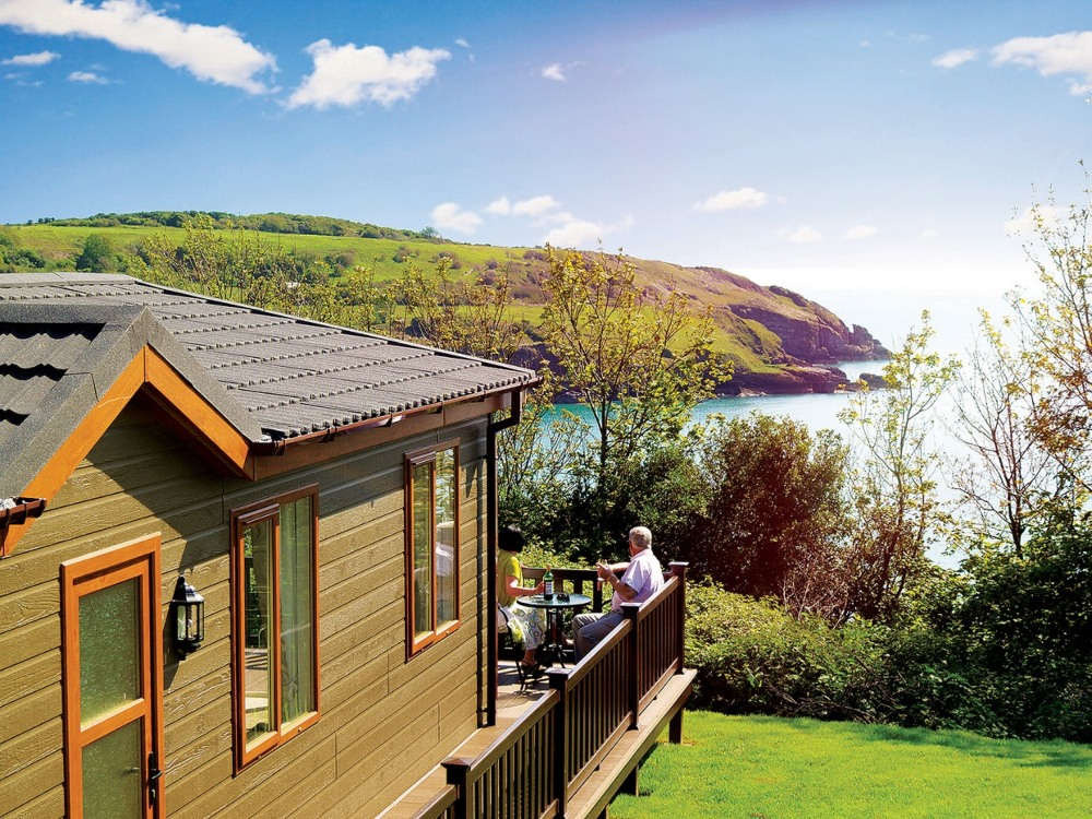 Devon Holiday Parks - a holiday home over looking the sea