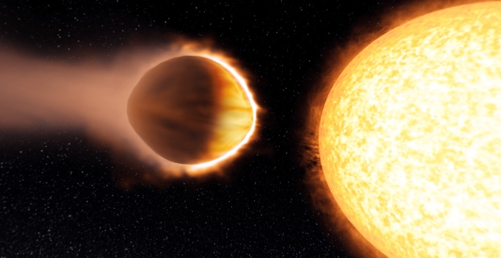 two yellow planets in space, an image from one of the pieces of scientific research that won one of the government grants