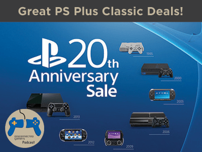 ps plus deals, playstation classics, 20th anniversary playstation, sony playstation gaming deals, gaming deals, digital downloads, psvita deals,