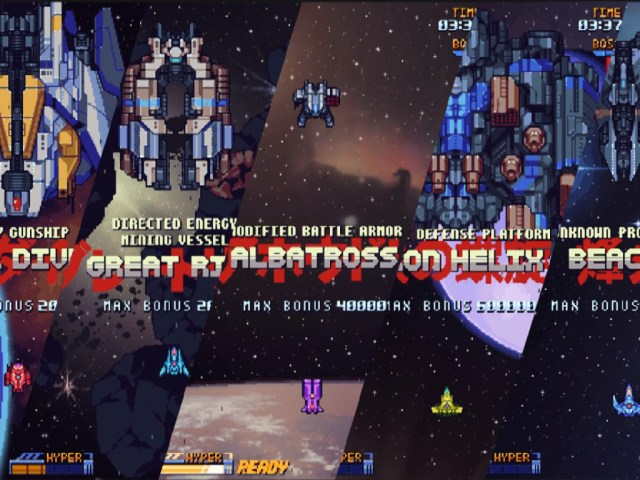super galaxy squadron, steam game, new blood interactive, bullet hell, top down shooter space game,