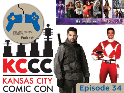 gaming podcast, gaming convention, anime conventions, comic con, kansas city comic-con, kccc, manu bennett from arrow, austin st john red power ranger, original power ranger, voice actors,