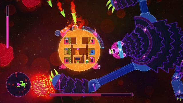 ursa major boss, lovers in dangerous space time, anti-love machine, dangerous space time video game, humble bundle games, xbox one indie games,