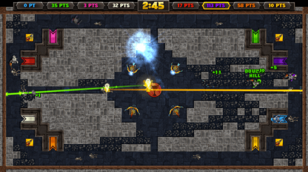 knight squad, multiplayer game, local co-op, indie game, gauntlet like, pc games, xbox one games,
