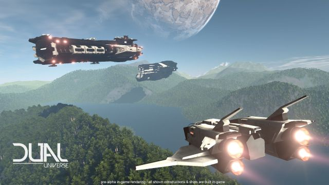 dual universe mmo, single cluster mmo game, sandbox MMO pc games, novaquark, kickstarter,