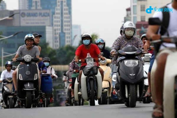 Motorcycles are banned