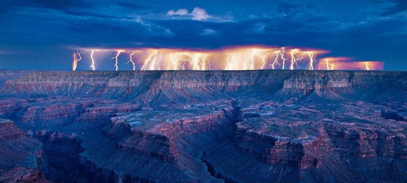 Lightning Above the Grand Canyon