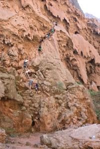 Descent to Mooney Falls, Havasupai