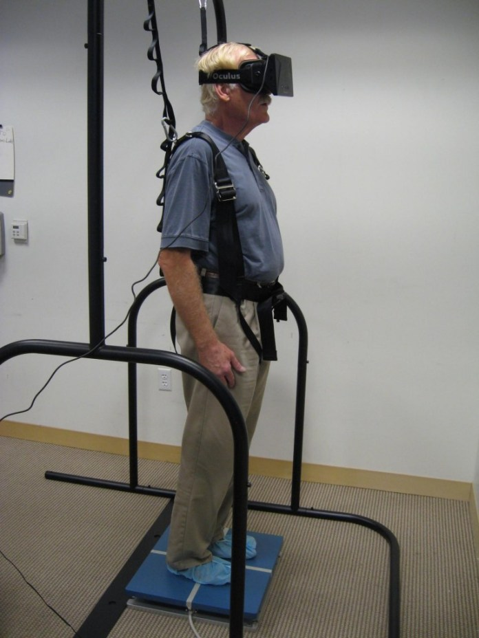 virtual reality tool to test balance