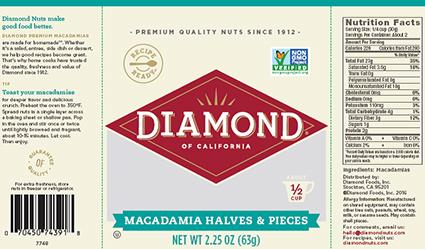 Diamond Nuts Recalled