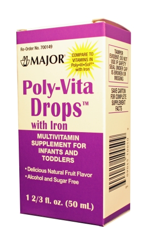 Poly-Vita Drops with Iron Recalled