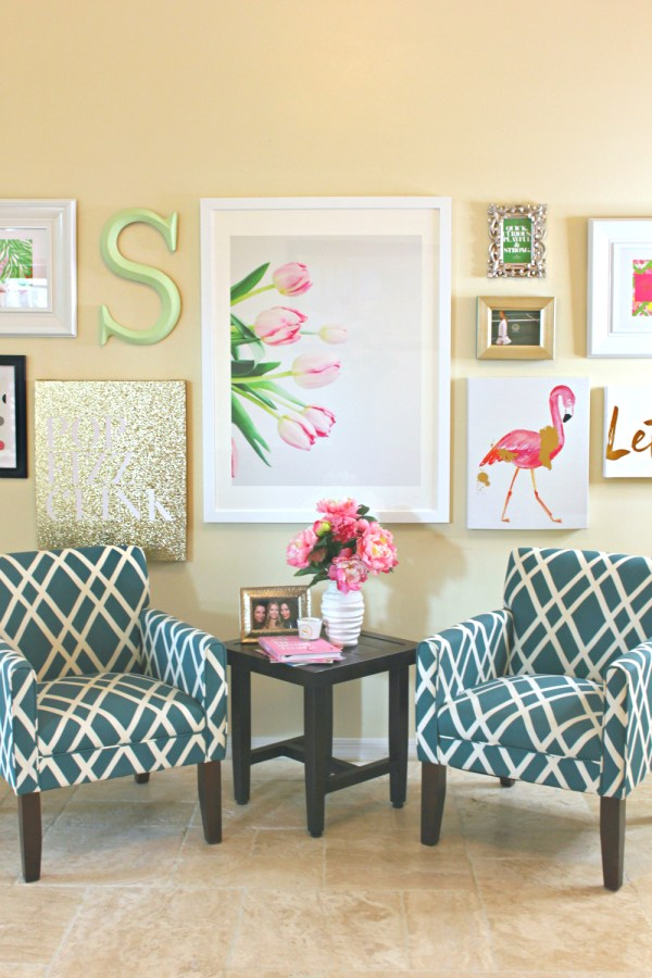 Lilly Pulitzer-inspired Wall Art Collage Diary Of