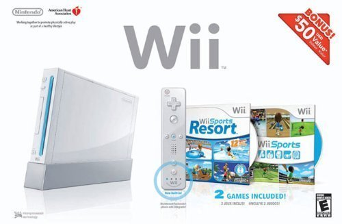 wii console and game package from Amazon