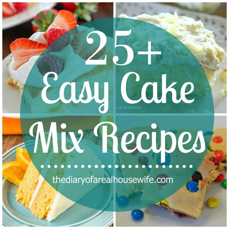 Easy Cake Recipes Box Mix